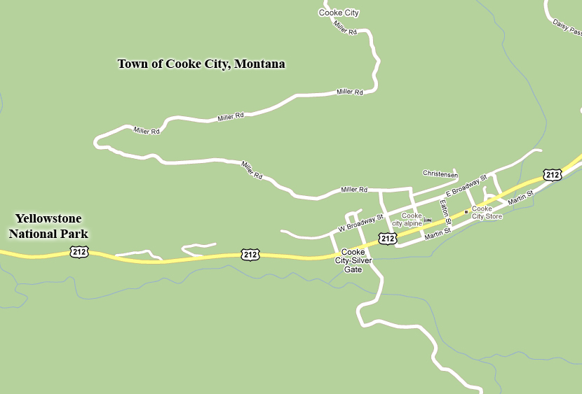 Cooke City Map